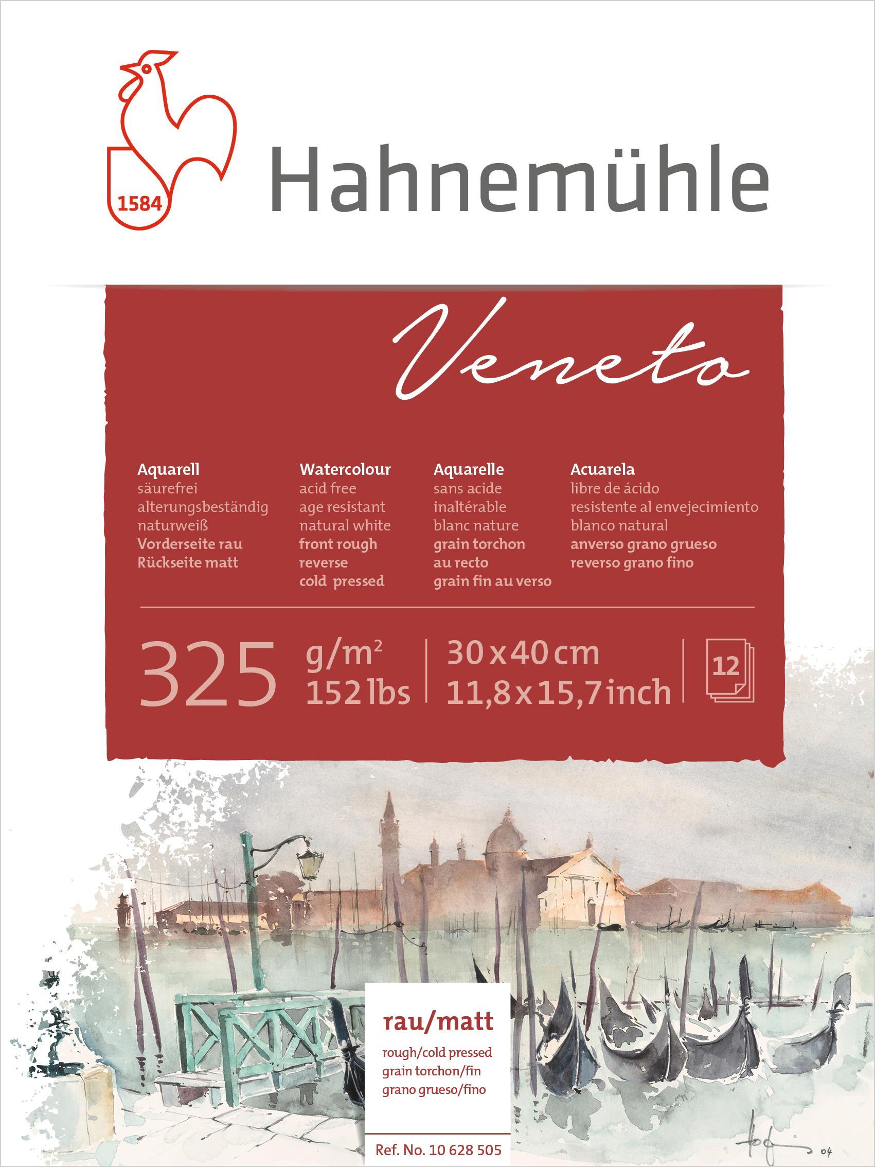 Bloco Aquarela Veneto 325 g/m² Textura Fina 30 X 40 cm 12 fl