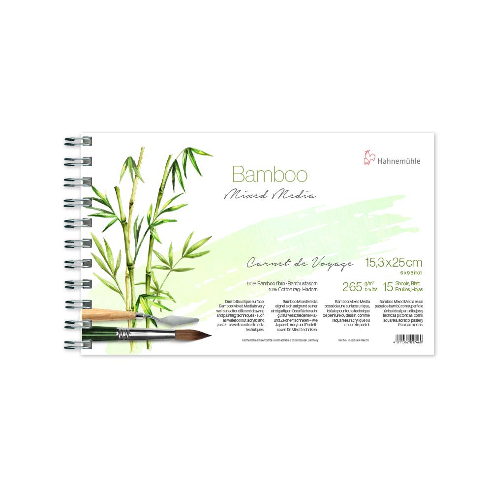 Caderno Viagem Bamboo 265 g/m² 15,3 X 25 cm 15 fl c/espiral